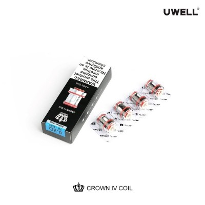 Uwell Crown 4 iv Ersatzcoils 0,20, 0,23, 0,25 0,4 Ohm (4er Packung )