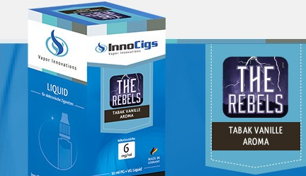 InnoCigs E-Liquids - 10ml - Tabak Vanille - The Rebels