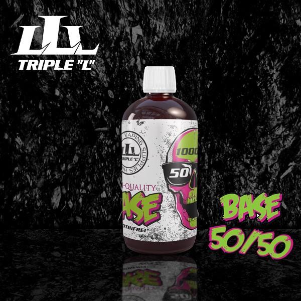 Triple L - Base - 50/50 Premium Base - 1000ml 0mg