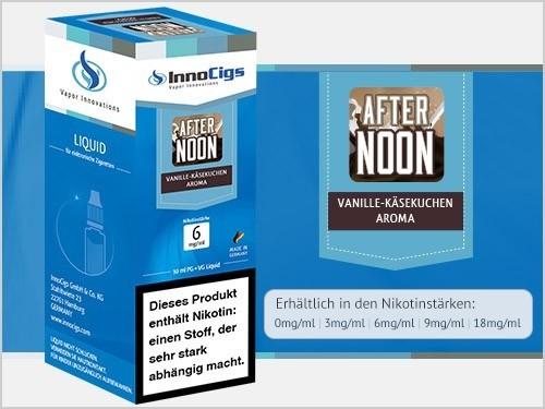 InnoCigs E-Liquids - 10ml - Afternoon - Vanille Käsekuchen