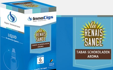 InnoCigs E-Liquids - 10ml - Tabak Schokolade - la renaissance