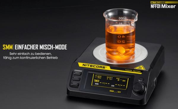 Nitecore - NFF01 - Liquid Mixer - Magnetrührer mit Heizplatte