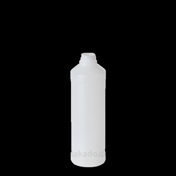 1000 ml Rundflaschen - natur - DIN 28 Gewinde mit Schraubverschluss - weiß