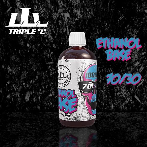 Triple L - Base - 70/30 ETHANOL Premium Base - 1000ml 0mg