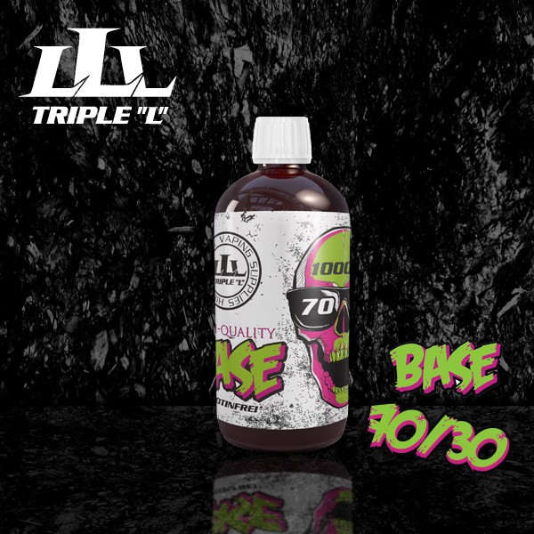 Triple L - Base - 70/30 Premium Base - 1000ml 0mg